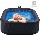 Mspa Inflatable Portable Hot Tub 6 Persons Outdoor Hydrotherapy Spa Jacuzzi