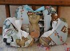 Handmade Mischievous Cats Pillow Heart Ornaments Primitive Bowl Fillers Whimsy