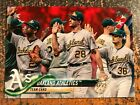 Oakland A's Team Card #580 2018 Topps Series 2 INDEPENDENCE DAY PARALLEL #d /76