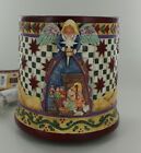 New Jim Shore Crazy Mountain Candle Warmer Nativity Angel Holiday JSW5400