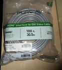 Belkin PureAV 100ft HDMI Interface to DVI Video Cable