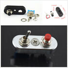 Universal DIY Aluminum Motorcycle Handlebar Engine Stop Start Switch Button Kit