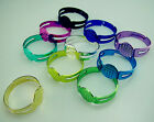 Free Lots Adjustable Round Ring Flatback Blank Base 8mm Multi Fluorescent Color