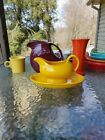 FIESTA WARE GRAVY BOAT/SAUCEBOAT & DRIP TRAY daffodil yellow NEW