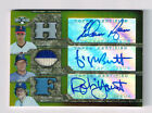 NOLAN RYAN GEORGE BRETT ROBIN YOUNT 2008 TRIPLE THREADS GOLD 3X AUTO GU # 9 9