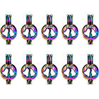 10X-C395 Rainbow Color Knot Cut Ball Cage Locket Penndant Christmas Diffuser