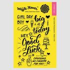 New Waffle Flower BIG DAY Good Luck Holidays Birthday Surprise Clear Stamp Set