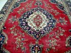 11X7 1940's GORGEOUS AUTHENTIC HAND KNOTTED 70+YRS ANTQ WOOL TABRIZ PERSIAN RUG