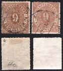 Germany Wurttemberg 1869 9Kr Shades Very Fine Used High $$$