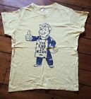 FALLOUT FALL OUT THE END IS NIGH YELLOW T SHIRT SIZE M MEDIUM VAULT BOY