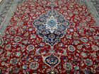 10X13 1960's EXQUISITE FINE HAND KNOTTED ANTIQUE WOOL MASHAD PERSIAN RUG CARPET