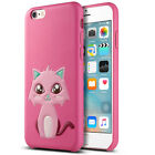 "For Apple iPhone 6/6S 4.7"" Cat Pattern Shockproof Rugged Leather Case Cover"
