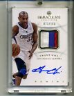 GRANT HILL 2012 2013 IMMACULATE 3 COLOR AUTOGRAPH JERSEY 100