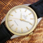 Mens 1960 Omega Seamaster 14K GOLD & S/S Automatic 570 Caliber Swiss Made Watch