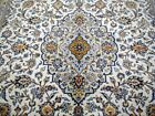 8X12 1960's BREATHTAKING MASTERPIECE MINT 200KPSI IVORY WOOL KASHAN PERSIAN RUG