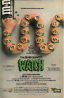 Vintage 1980s Mars Candy MMs Watch Single Page Ad