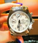 New BREITLING Chronomat W1331012/A776 Stainless Steel 38mm Mother of Pearl Watch
