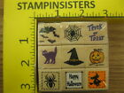 Rubber Stamp New Halloween Set of 9 by Jo Ann Crafts Stampinsisters 1774