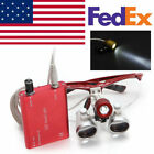 Redblue Dentist Dental Loupes 3.5x 420mm Surgical Binocular Led Head Light Lamp