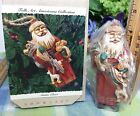Hallmark Folk Art Santa Clause 1993 with toys Carved look ornament wonderful
