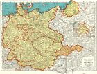 1942 Vintage GERMANY Map Antique Map of Germany Gallery Wall Art 5514
