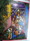 Christmas Dimensions Needlepoint Stocking KitNATIVITYStained Glass909216