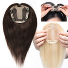 Hairpiece Clip in 100% Human Hair Replacement System Top Topper Toupee Piece Wig