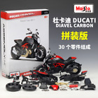 Maisto 1:12 Ducati Diavel Carbon Assembly line Kit Motorcycle Model Toy Black