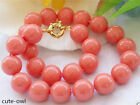 AAA Fashion Jewerly 12mm South Sea Coral Color Shell Pearl Necklace 18""