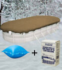 12x24 Oval Above Ground Winter Pool Cover + 4x4 Air Pillow + Winterizing Kit