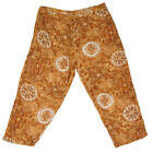 MAGIC Indian Ochre Brown Ethnic Skull Print tie Dye Harem Pants PLUS size