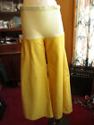 30x31 MATERNITY True Vtg 70s Womens DISCO CANARY YELLOW SUPER BELLBOTTOM JEANS