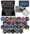 SPACE SHUTTLE ENDEAVOR MISSIONS NASA Florida State Quarters 25 Coin Set w BOX