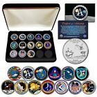APOLLO SPACE MISSIONS Flordia Quarters 13 Coin Complete Set NASA PROGRAM w BOX