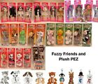PEZ - Fuzzy Friends & Plush - Choose Character and Condition from Pull Down Menu