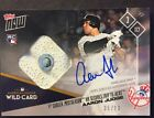 2017 Topps Now 696A Wild Card Game Used Base Auto Aaron Judge 35 99