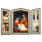 Christmas Nativity of Christ Jesus Russian Wooden Icon Triptych 10 Annunciation