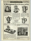 1938 PAPER AD Westinghouse Electric Glass Pot Coffee Maker Fiesta Ware Set