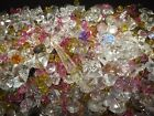 Large Lot Of Over 1000 Glass Pieces Art Craft Jewelry Repurpose Clear Pink