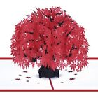 3D Pop Up Greeting Card Maple Leaf Handmade Birthday Wedding Invitations Craft