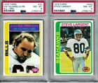 1978 Topps Football - Two (2) PSA 8 Cards, w Steve Largent Rookie, DeLamielleure