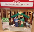 GEMMY CHRISTMAS NATIVITY MANGER FAMILY Airblown Inflatable Holiday Yard Decor