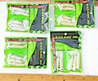 4pks 5ct WHITE 1/4oz JIGS with Curly Tail Grubs,Bass Walleye Fishing Baits Lures