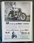 BSA Birmingham Small Arms Motorcycle blondes gift bike ad 1967 1968 1969 1966