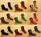 Women Lace up Faux Suede Sneakers Ankle Boots Lace Up High Top Flat Wedge Shoess