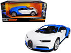 BUGATTI CHIRON BLUE WHITE EXOTICS 1 24 DIECAST MODEL CAR BY MAISTO 32509