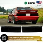 DEPO Dark Cherry Red Smoke Rear Tail Lights w o Bulbs For 1987 1993 Ford Mustang