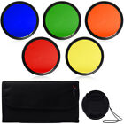52mm Blue Yellow Orange Red Green Color filter for Nikon Camera Lens New LF