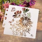 Flower Stencil Template Painting Scrapbooking Embossing Stamping Album Craft DIY