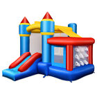 Inflatable Bounce House Castle Slide Bouncer Kids Basketball Hoop Without Blower